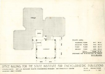 Terrace Plan, with Library